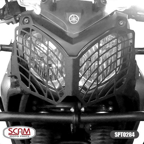 Spto284 Scam Protetor Farol Aço Carbono Tenere250 2011+
