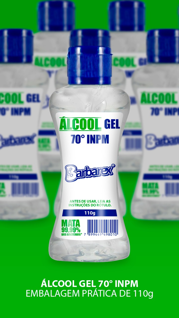 Kit 20 unidades de Álcool gel 70º 110g Barbarex