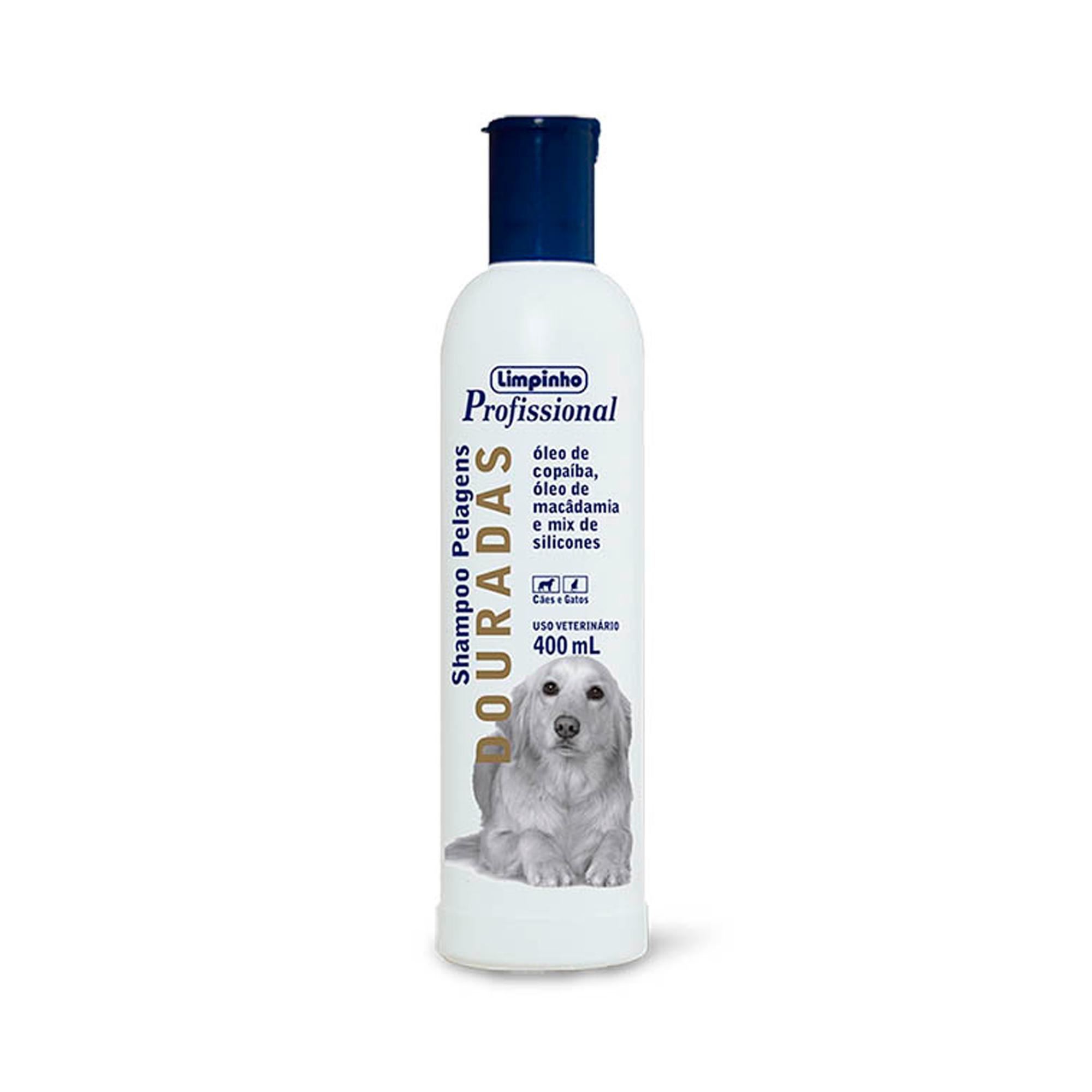 Shampoo Profissional Pelos Dourados Limpinho 400ml