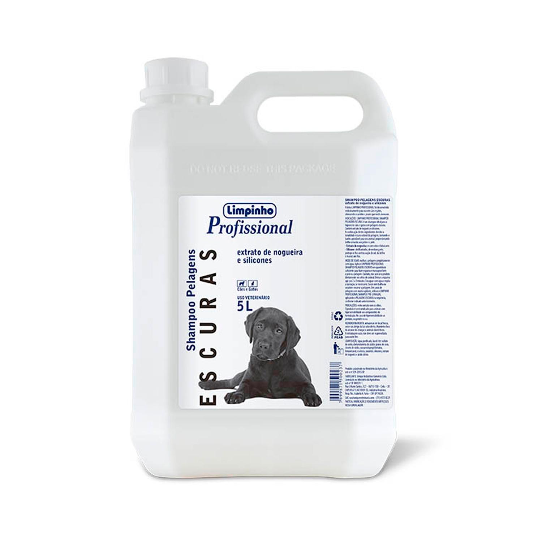 Shampoo Profissional Pelos Escuros Limpinho 5L