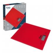 Balança digital de cozinha vermelha vidro temperado 5kg Máx