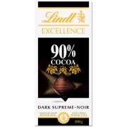 Barra de chocolate Lindt Excellence 90% Amargo 100g Dark