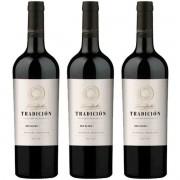 Caixa com 3 Vinhos Tinto Argentino Susana Balbo Tradición Red Blend 2018 750ml