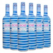 Caixa com 6 Vinhos Rosé Francês Rosé Piscine Stripes 750ml