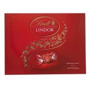 Caixa de Chocolates Lindt Lindor Balls Vermelho 300g Gift