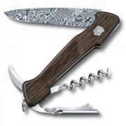 Canivete Victorinox Suíço Wine Master Edição Limitada 2019 Damasco 130mm Nogueira 0.9701.J19