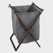 Cesto organizador madeira + tecido 43x50x60cm Stolf