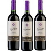 Cj 3 Vinho Tinto Chileno Casas del Toqui Carmenere 2019