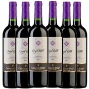 Cj 6 Vinho Tinto Chileno Casas del Toqui Carmenere 2019