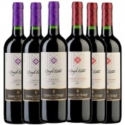 Cj 6 Vinho Tinto Chileno Casas del Toqui Carmenere e Cabernet Sauvignon 2019