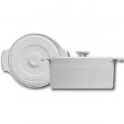 Cocotte 22x10cm Branco Porcelana Germer