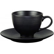 Cojunto de 4 xícaras para chá Preto cerâmica 195ml