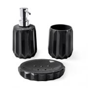 Conjunto para Banheiro Preto Classic 3pc Hauskraft 57720/100