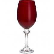 Conjunto Taça Vinho Elisa Rubi 6 Peças Bohemia 450ml