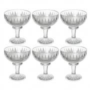 Conjunto Taças de Cristal Sobremesa Queen 6pc 260ml Wolff