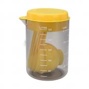 Copo medidor + Colheres de Medida Brinox Amarelo 2600/143