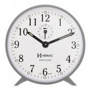 Despertador Mecânico Plástico Herweg Branco 2220-BR