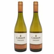 Kit 2 Vinho Branco Chileno Carmen Insigne Chardonnay 2018 750ml