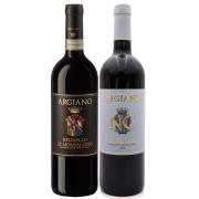 Kit 2 Vinho Tinto Italiano NC Toscana/Brunello Argiano 18/16