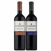 Kit 2 Vinhos Chilenos Carmen Insigne Merlot e Carmenere