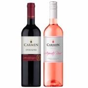 Kit 2 Vinhos Chilenos Carmen Insigne Rosé de Cabernet Sauvignon e tinto Cabernet Sauvignon