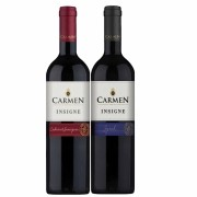 Kit 2 Vinhos Chilenos Carmen Insigne Syrah, Cabernet Sauvignon