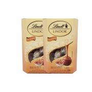 Kit 2x Caixa de Chocolates Lindt Lindor Balls Doce de Leite 200g