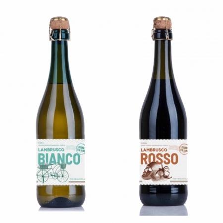 Kit 2x Vinho Branco e Tinto Italiano Frisante Bianco e Rosso Sogno Lambrusco 750ml