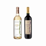Kit 2x Vinho Branco/Tinto Chileno Baron Philippe de Rothschild Chardonnay/Carmenere 750ml
