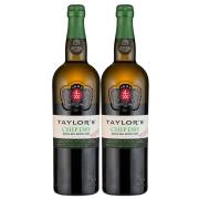 Kit 2x Vinho do Porto Branco Chip Dry Taylor's 750ml