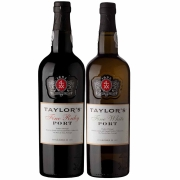 Kit 2x Vinho do Porto Taylor's White Fine + Ruby 750ml