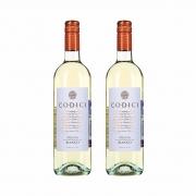 Kit 2x Vinho Italiano Branco Codici Bianco Puglia IGT