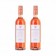 Kit 2x Vinho Italiano Rosé Codici Rosato Puglia IGT