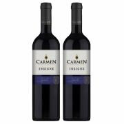 Kit 2x Vinho Tinto Chileno Carmen Insigne Syrah 2018 750ml