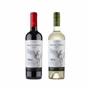 Kit 2x Vinho Tinto Chileno Orgânico Miguel Torres Cabernet Sauvignon e Sauvignon Blanc 2019