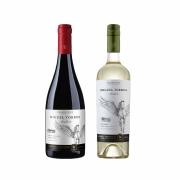Kit 2x Vinho Tinto Chileno Orgânico Miguel Torres Pinot Noir e Sauvignon Blanc 2019