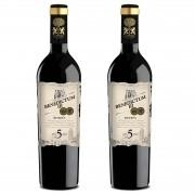 Kit 2x Vinho Tinto Espanhol Benedictum lll Reserva 5 Anos 2013 750ml
