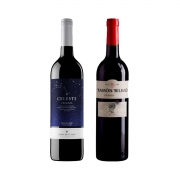 Kit 2x Vinho Tinto Espanhol Torres Celeste/Ramon Bilbao Crianza 750ml