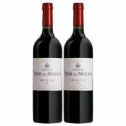 Kit 2x Vinho Tinto Francês Château Tour Du Moulin Les Terres Fronsac 2014