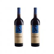 Kit 2x Vinho Tinto Português Chaminé Cortes de cima 750ml 2018