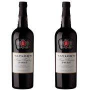 Kit 2x Vinho Tinto Português Do Porto Taylors Fine Tawny