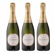 Kit 3 Vinho Champagne Branco Francês Laurent Perrier La Cuvee Brut