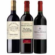 Kit 3 Vinhos Bordeaux: Fronsac; Bordeaux e Supérieur França