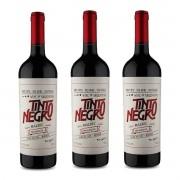 Kit 3 Vinhos Tinto Argentino Negro Mendoza Malbec 2018