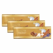 Kit 3x Chocolate Lindt Barra ao Leite com Avelãs (Milk+Hazelnut) 300g