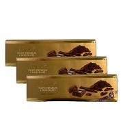 Kit 3x Chocolate Lindt Gold Bar Dark (Meio Amargo) 300g
