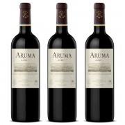 Kit 3x Vinho Argentino Aruma Catena & Rothschild Malbec 2017