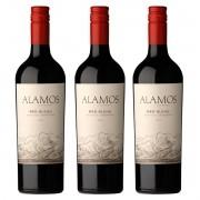 Kit 3x Vinho Argentino Tinto Alamos Blend 2018 Catena Wines