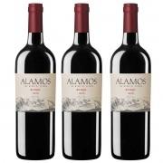 Kit 3x Vinho Argentino Tinto Alamos Syrah 2018 Catena Zapata