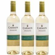 Kit 3x Vinho Branco Chileno Carmen Insigne Sauvignon Blanc 2018 750ml